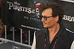 "JOHNNY DEPP. World Premiere of Walt Disney Pictures' ""Pirates of the Caribbean: On Stranger Tides,"" at Disneyland. Anaheim, CA USA. May 7, 2011. ©CelphImage"