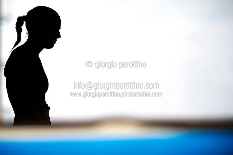 Tania Cagnotto ITA <br /> Women's 3m springboard semifinal<br /> Diving<br /> 15th FINA World Aquatics Championships<br /> Barcelona 19 July - 4 August 2013<br /> Piscina Comunal de Montjuic, Barcelona (Spain) 26/07/2013 <br /> © Giorgio Perottino