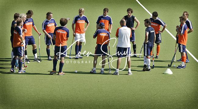 NLD-20050831-Leipzig-EK HOCKEY : Oranje trainde woensdag voor de laatste poulwedstrijd, donderdag tegen Spanje.
