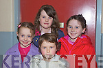 Sisters Ellen and Michelle Hayes from Adare with cousins Jennifer and Fiona Kelly from Listowel at opening night of 'Cinderella' last Tuesday night in Scoil Realta, Listowel.