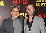 HOLLYWOOD, CA - APRIL 06:  Actors Rob Schneider; David Spade attends the premiere of Netflix's 'Sandy Wexler' at the ArcLight Cinemas Cinerama Dome on April 6, 2017 in Hollywood, California.