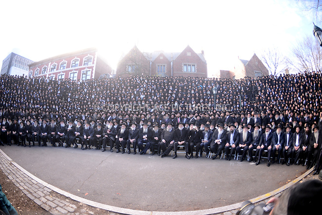 www.acepixs.com<br /> <br /> November 27 2016, New York City<br /> <br /> Hasidic Rabbis gather for the traditional group photograph as they attend the 33st annual International Conference of Chabad-Lubavitch Emissaries in Brooklyn on November 27 2016 in New York City<br /> <br /> By Line: Zelig Shaul/ACE Pictures<br /> <br /> <br /> ACE Pictures Inc<br /> Tel: 6467670430<br /> Email: info@acepixs.com<br /> www.acepixs.com