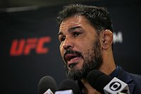 """SÃO PAULO, SP, 25.09.2019: MEDIA DAY BLACHOWICZ X JACARÉ -SP- O Embaixador do UFC no Brasil Rodrigo Minotauro, durante o """"Media Day"""" do evento UFC Fight Night: Blachowicz x Jacaré, que acontece no Hotel Renaissance, em São Paulo, nesta quarta-feira (25), (Foto: Marivaldo Oliveira /Código19)"""