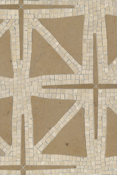 Name: Indus<br /> Style: Contemporary<br /> Product Number: CB0826<br /> Description: Indus in Crema Marfil (hct), Renaissance Bronze (h)<br /> -James Duncan for New Ravenna Mosaics