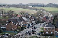 peloton rolling through Flanders<br /> <br /> 72nd Dwars Door Vlaanderen (1.UWT)<br /> 1day race: Roeselare &rsaquo; Waregem BEL (203.4km)