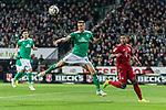 01.12.2018, Weserstadion, Bremen, GER, 1.FBL, Werder Bremen vs FC Bayern Muenchen<br /> <br /> DFL REGULATIONS PROHIBIT ANY USE OF PHOTOGRAPHS AS IMAGE SEQUENCES AND/OR QUASI-VIDEO.<br /> <br /> im Bild / picture shows<br /> Niklas Moisander (Werder Bremen #18), Serge Gnabry (FC Bayern Muenchen #22), <br /> <br /> Foto &copy; nordphoto / Ewert