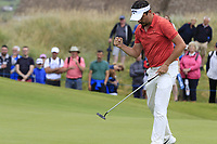 Mike Lorenzo-Vera (FRA) sinks his putt on the 17th green during Saturday's Round 3 of the Dubai Duty Free Irish Open 2019, held at Lahinch Golf Club, Lahinch, Ireland. 6th July 2019.<br /> Picture: Eoin Clarke | Golffile<br /> <br /> <br /> All photos usage must carry mandatory copyright credit (© Golffile | Eoin Clarke)