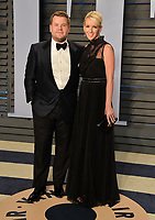 BEVERLY HILLS, CA - MARCH 4: James Corden and Julia Carey arrives at the 2018 Vanity Fair Oscar Party at the Wallis Annenberg Center for the Performing Arts on March 4, 2018 in Beverly Hills, California.(Photo by Scott Kirkland/PictureGroup)