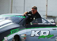 Sep 4, 2016; Clermont, IN, USA; NHRA pro stock driver Kenny Delco during qualifying for the US Nationals at Lucas Oil Raceway. Mandatory Credit: Mark J. Rebilas-USA TODAY Sports