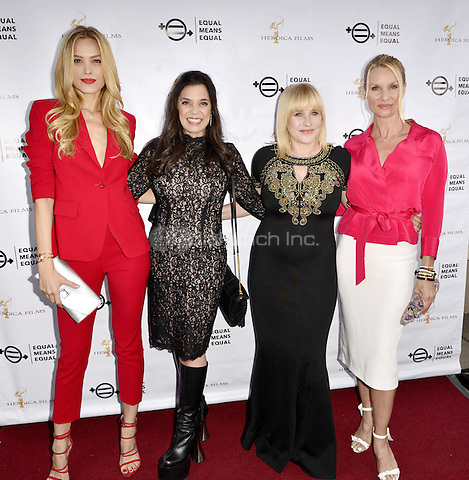 """BEVERLY HILLS, CA - AUGUST 26: Petra Nemcova, Kamala Lopez, Patricia Arquette and Nicolette Sheridan attend the """"Equal Means Equal"""" Special Screening at the Music Hall on August 20, 2016 in Beverly Hills, CA. Koi Sojer, Snap'N U Photos / MediaPunch"""