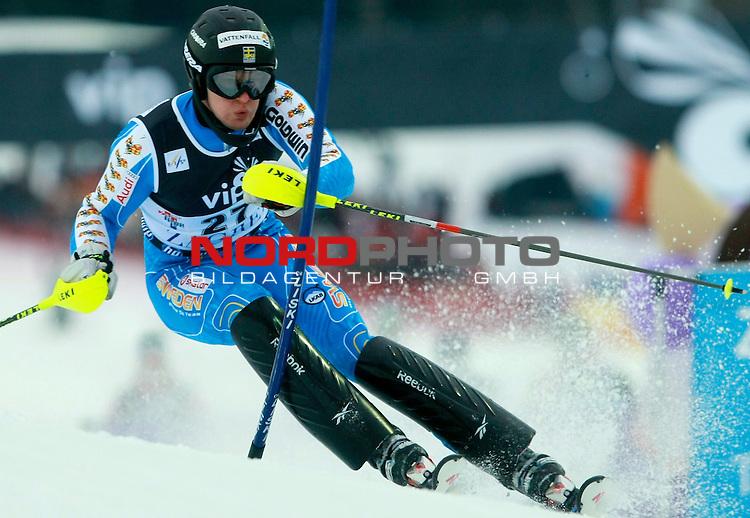 06.01.2011., Sljeme, Zagreb, Croatia - FIS Ski World Cup, Snow Queen Trophy, men slalom race, 1st run.<br /> Anton Lahdenperae<br />                                                                                                   Foto:   nph / PIXSELL