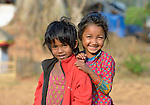 Girls in Dhawa, a village in the Gorkha District of Nepal.