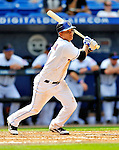 28 February 2011: New York Mets infielder Ruben Tejada at bat during a Spring Training game against the Washington Nationals at Digital Domain Park in Port St. Lucie, Florida. The Nationals defeated the Mets 9-3 in Grapefruit League action. Mandatory Credit: Ed Wolfstein Photo