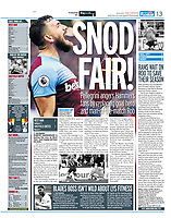 Daily Mirror - 28-Oct-2019 - 'SNOD FAIR!' - Photo by Rob Newell (Camerasport via Getty Images)