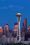 The Seattle Space Needle at night