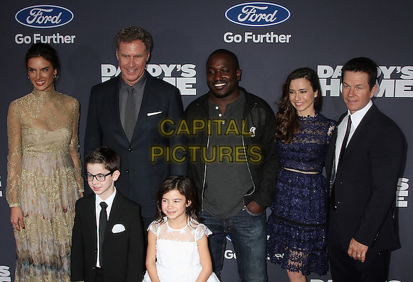 NEW YORK, NY - DECEMBER 13: The cast of Daddy's Home' at the New York premiere of 'Daddy's Home' in New York, New York on December 13, 2015. <br /> CAP/MPI/RMP<br /> &copy;RMP/MPI/Capital Pictures