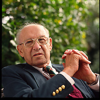 Peter Drucker at his home in California