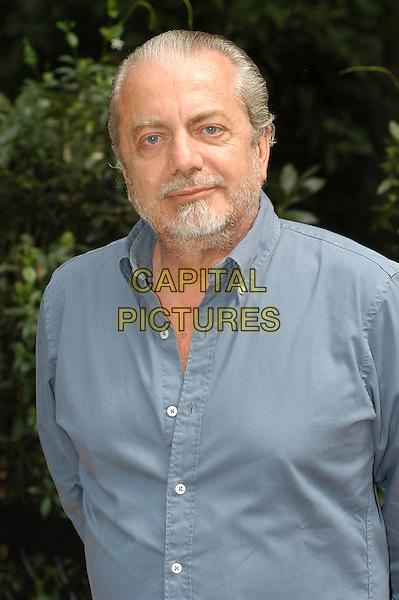 """AURELIO DE LAURENTIIS.Photocall for """"Captivity"""", Rome, Italy..August 23rd, 2007.half length blue shirt beard goatee facial hair.CAP/CAV.©Luca Cavallari/Capital Pictures"""