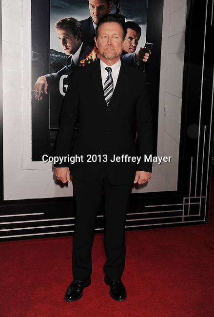 HOLLYWOOD, CA - JANUARY 07: Robert Patrick arrives at the 'Gangster Squad' - Los Angeles Premiere at Grauman's Chinese Theatre on January 7, 2013 in Hollywood, California.