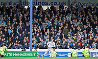 Wycombe support during the Sky Bet League 2 match between Portsmouth and Wycombe Wanderers at Fratton Park, Portsmouth, England on 23 April 2016. Photo by Andy Rowland.