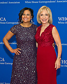 NBC News White House Correspondent Kristen Welker, left, and Andrea Mitchell arrive for the 2017 White House Correspondents Association Annual Dinner at the Washington Hilton Hotel on Saturday, April 29, 2017.<br /> Credit: Ron Sachs / CNP