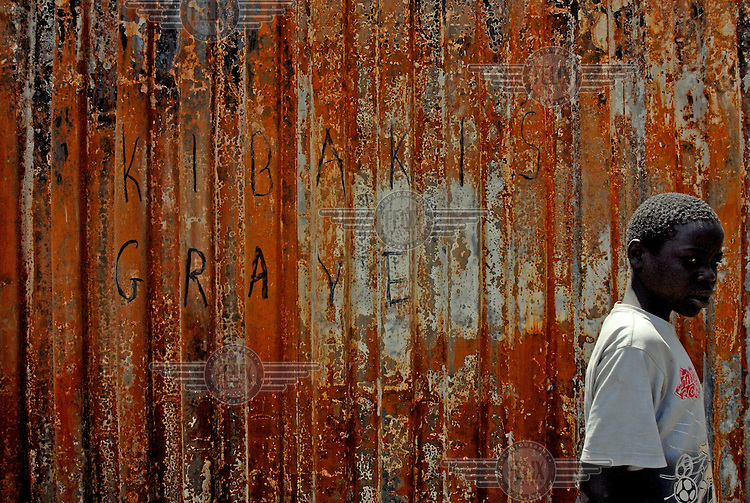 'Kibaki's grave' - grafitti on a wall in the Kibera slum. Supporters of the opposition Orange Democratic Movement (ODM), who are popular in Kibera, were leading protests against suspected vote rigging by President Mwai Kibaki in the recent election.