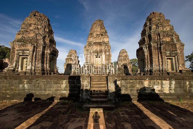Long shadows at East Mebon, Siem Reap, Cambodia