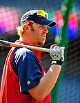 6 June 2009: Washington Nationals' left fielder Adam Dunn awaits his turn in the batting cage prior to a game against the New York Mets at Nationals Park in Washington, DC. Dunn hit a two-run homer in the first inning as the Nationals defeated the Mets 7-1, and marking pitcher John Lannan's first complete game of his career. Mandatory Credit: Ed Wolfstein Photo