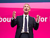 Jim Murphy MP <br /> Shadow International Development Minister <br /> Labour Party Conference, Manchester, Great Britain <br /> 22nd September 2014 <br /> <br /> Jim Murphy MP <br /> <br /> Ed Miliband watching speech <br /> <br /> Photograph by Elliott Franks <br /> Image licensed to Elliott Franks Photography Services