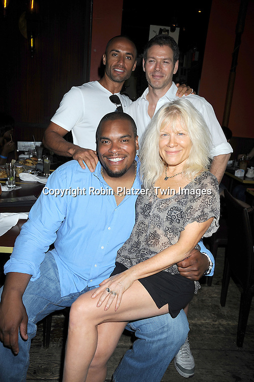 Kamar de los Reyes, Kevin Spiritas, Sean Ringgold and Ilene Kristen all on One Life To Live ..at The Gabriel Project Benefit at Prohibition on Columbus Avenue in New York City on June 7, 2008.....Robin Platzer, Twin Images