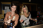 Christina Lind & Stephanie Gatschet bartending for tips for charity at the Celebrity Bartending Bash on May 14 at Martini's Upstairs, Marco Island, Florida - SWFL Soapfest Charity Weekend May 14 & !5, 2011 benefitting several children's charities including the Eimerman Center providing educational & outreach services for children for autism. see www.autismspeaks.org. (Photo by Sue Coflin/Max Photos)
