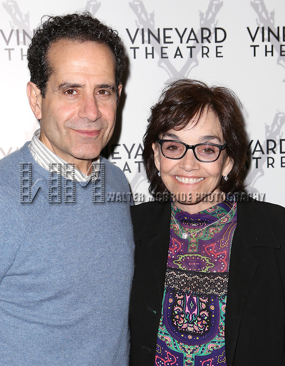 "Tony Shaloub and Brooke Adams attends the Opening night for Vineyard Theatre's world-premiere production of  ""Too Much Sun""  at The Vineyard Theatre on May 18, 2014 in New York City."