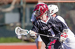 Manhattan Beach, CA 02-11-17 - Emmett Graham (Santa Clara #1) in action during the MCLA non-conference game between LMU (SLC) and Santa Clara (WCLL).  Santa Clara defeated LMU 18-3.
