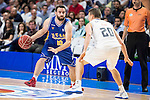 Real Madrid's Jaycee Carroll and UCAM Murcia's Carlos Carbezas during the first match of the playoff at Barclaycard Center in Madrid. May 27, 2016. (ALTERPHOTOS/BorjaB.Hojas)