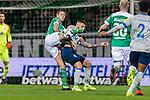08.03.2019, Weserstadion, Bremen, GER, 1.FBL, Werder Bremen vs FC Schalke 04<br /> <br /> DFL REGULATIONS PROHIBIT ANY USE OF PHOTOGRAPHS AS IMAGE SEQUENCES AND/OR QUASI-VIDEO.<br /> <br /> im Bild / picture shows<br /> Niklas Moisander (Werder Bremen #18) im Duell / im Zweikampf mit Guido Burgstaller (FC Schalke 04 #19), <br /> <br /> Foto &copy; nordphoto / Ewert