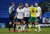 Players from both teams shake hands at the end of the match  <br /> <br /> Photographer Andrew Kearns/CameraSport<br /> <br /> The EFL Sky Bet Championship - Bolton Wanderers v Norwich City - Saturday 16th February 2019 - University of Bolton Stadium - Bolton<br /> <br /> World Copyright © 2019 CameraSport. All rights reserved. 43 Linden Ave. Countesthorpe. Leicester. England. LE8 5PG - Tel: +44 (0) 116 277 4147 - admin@camerasport.com - www.camerasport.com