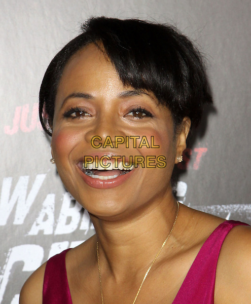 "GINA RAVERA.Premiere Screening Of Overture Films' ""Law Abiding Citizen"" held At The Grauman Chinese Theatre, Hollywood, California, USA..October 6th, 2009.headshot portrait smiling .CAP/ADM/KB.©Kevan Brooks/AdMedia/Capital Pictures."