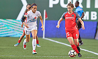 Portland, OR - Wednesday June 28, 2017: Meghan Klingenberg, Shea Groom during a regular season National Women's Soccer League (NWSL) match between the Portland Thorns FC and FC Kansas City at Providence Park.