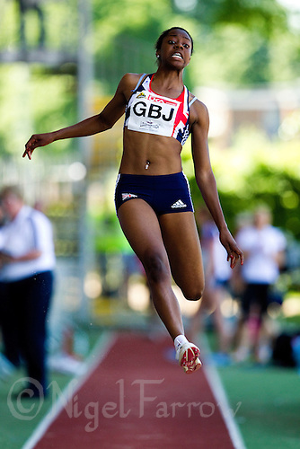 23 MAY 2010 - LOUGHBOROUGH, GBR - Lorraine Ugen (GB Juniors) - Womens Long Jump - Loughborough International Athletics .(PHOTO (C) NIGEL FARROW)