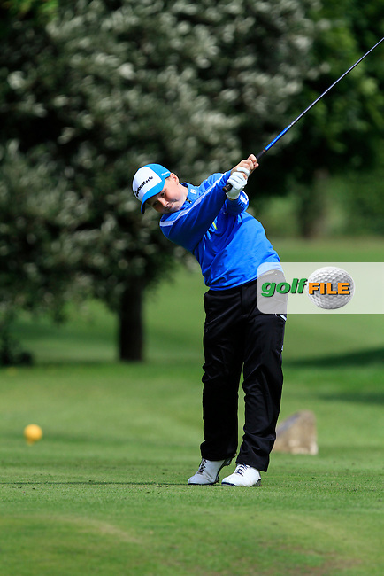 Darren Leufer (Tuam) on the 11th tee during the Irish Boys Under 13 Amateur Open Championship in Malahide Golf Club on Monday 11th August 2014.<br /> Picture:  Thos Caffrey / www.golffile.ie