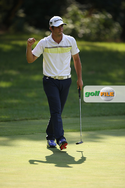 Still in there, Adrian Otaegui (ESP) holds on to share the clubhouse lead with 5 others during Round Three of the Tshwane Open 2015 at the Pretoria Country Club, Waterkloof, Pretoria, South Africa. Picture:  David Lloyd / www.golffile.ie. 14/03/2015
