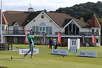 Mark Power from Ireland on the 11th tee during Round 2 Singles of the Men's Home Internationals 2018 at Conwy Golf Club, Conwy, Wales on Thursday 13th September 2018.<br /> Picture: Thos Caffrey / Golffile<br /> <br /> All photo usage must carry mandatory copyright credit (&copy; Golffile   Thos Caffrey)