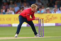 Simon Harmer of Essex completes the run out of Brendan Taylor during Essex Eagles vs Notts Outlaws, Royal London One-Day Cup Semi-Final Cricket at The Cloudfm County Ground on 16th June 2017