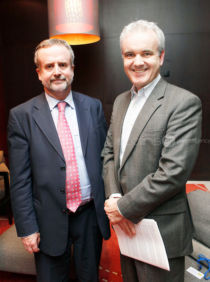 *** NO FEE PIC***.09/11/2011.Colin Wrafter Director Human Rights unit Dept of Foreign Affairs &.Colm O' Gprman Executive Director Amnesty International Ireland.during an Amnesty International Ireland & the Irish Council for Civil Liberties Information evening on the 'Dublin Process' of Treaty Body Reform at the Radisson Blu Royal Hotel, Golden Lane, Dublin..Photo: Gareth Chaney Collins