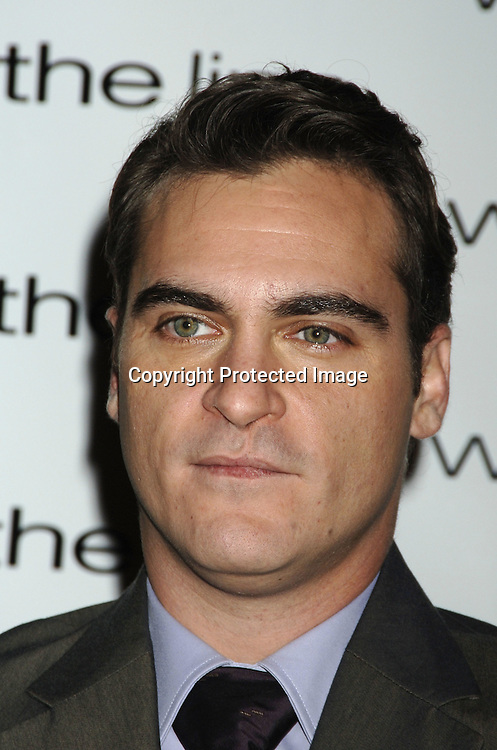 "Joaquin Phoenix ..at The New York Premiere of ""Walk The Line"" on November 13, 2005 at The Beacon Theatre. ..Photo by Robin Platzer, Twin Images"