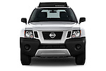 Car photography straight front view of a2014 Nissan Xterra S 5 Door Suv Front View
