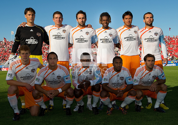 01 July 2010:  Houston Dynamo starting eleven during a game between the Houston Dynamo and the Toronto FC at BMO Field in Toronto..Final score was 1-1....