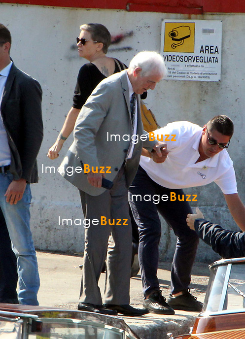 Nick Clooney ( George's father ) -  GEORGE CLOONEY &amp; AMAL ALAMUDDIN ARRIVE IN VENICE FOR THE WEDDING - <br /> George Clooney &amp; British fiancee Amal Alamuddin arriving in Venice with guests, prior to their wedding day. <br /> The couple and their guests took a taxi boat called 'Amore'.<br /> Robert De Niro, Matt Damon, Brad Pitt and Cate Blanchett were among the other stars, like Cindy Crawford, Rande Gerber, Bill Murray, Emily Blunt.<br /> Italy, Venice, 26 September, 2014.