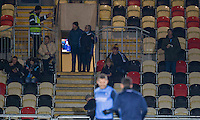 Wycombe fans ahead of the Sky Bet League 2 match between Newport County and Wycombe Wanderers at Rodney Parade, Newport, Wales on 22 November 2016. Photo by Mark  Hawkins.