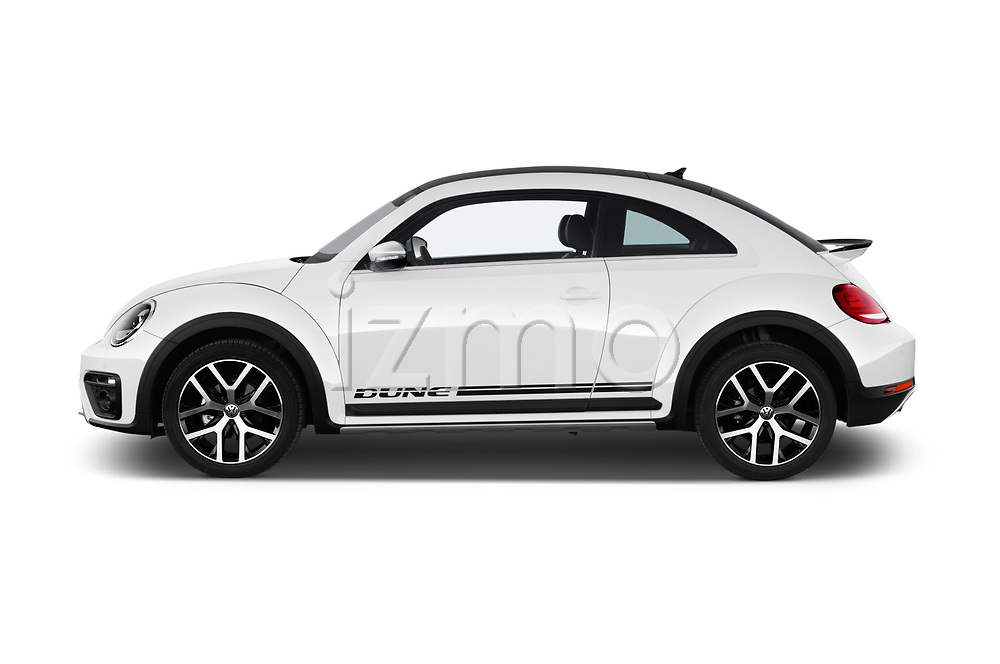 Car Driver side profile view of a 2017 Volkswagen Beetle Dune 3 Door Hatchback Side View